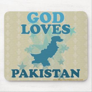 God Loves Pakistan Mouse Pad