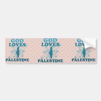 God Loves Palestine Bumper Stickers