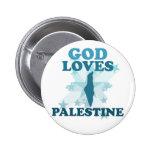 God Loves Palestine Pinback Buttons