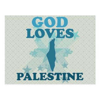 God Loves Palestine Post Cards