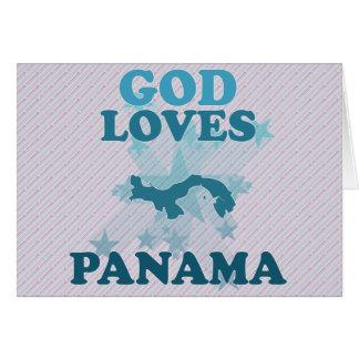 God Loves Panama Greeting Cards