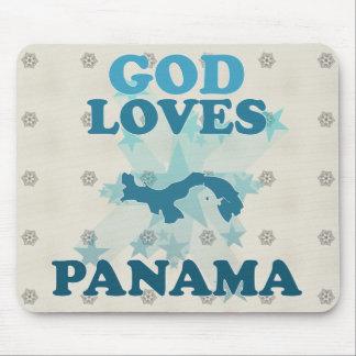 God Loves Panama Mousepads