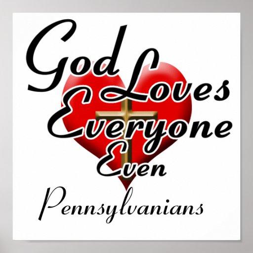 God Loves Pennsylvanians Poster