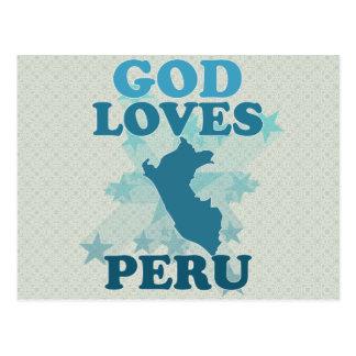 God Loves Peru Postcard