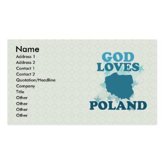 God Loves Poland Business Card
