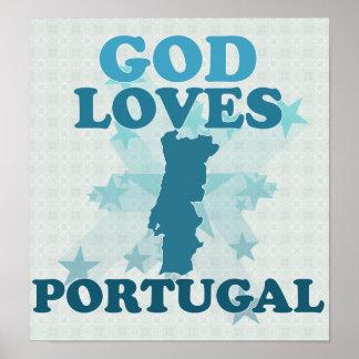 God Loves Portugal Poster