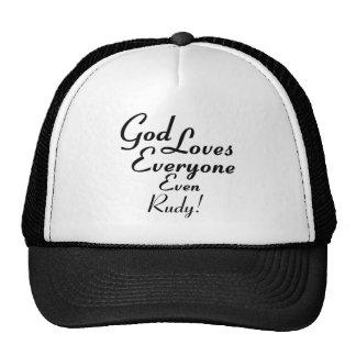 God Loves Rudy! Mesh Hats