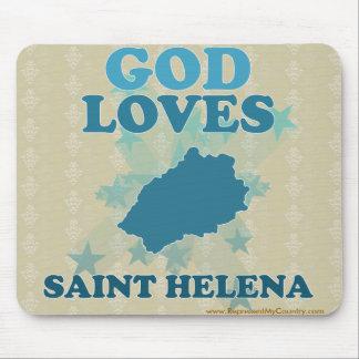 God Loves Saint Helena Mouse Pad
