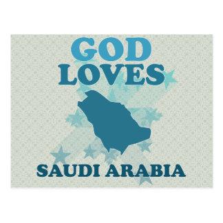 God Loves Saudi Arabia Postcard