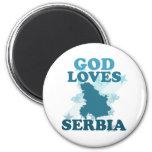 God Loves Serbia Fridge Magnet