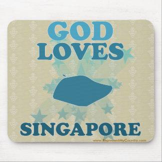God Loves Singapore Mouse Pad