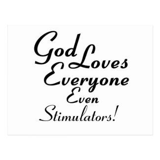 God Loves Stimulators! Postcard