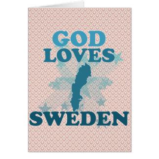 God Loves Sweden Greeting Cards