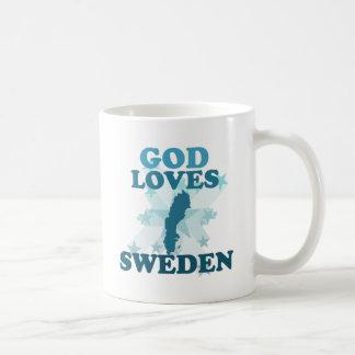 God Loves Sweden Classic White Coffee Mug