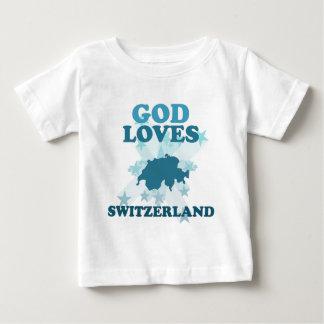 God Loves Switzerland Infant T-shirt