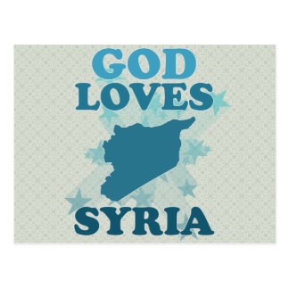 God Loves Syria Postcard