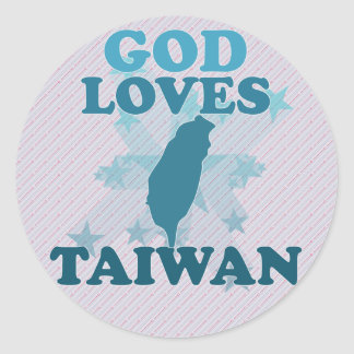 God Loves Taiwan Classic Round Sticker