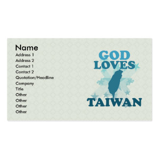 God Loves Taiwan Double-Sided Standard Business Cards (Pack Of 100)