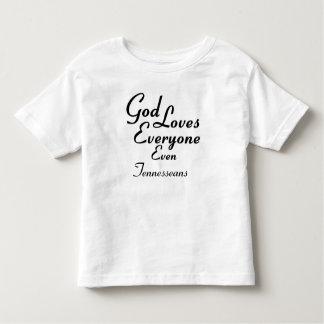 God Loves Tennesseans Toddler T-shirt