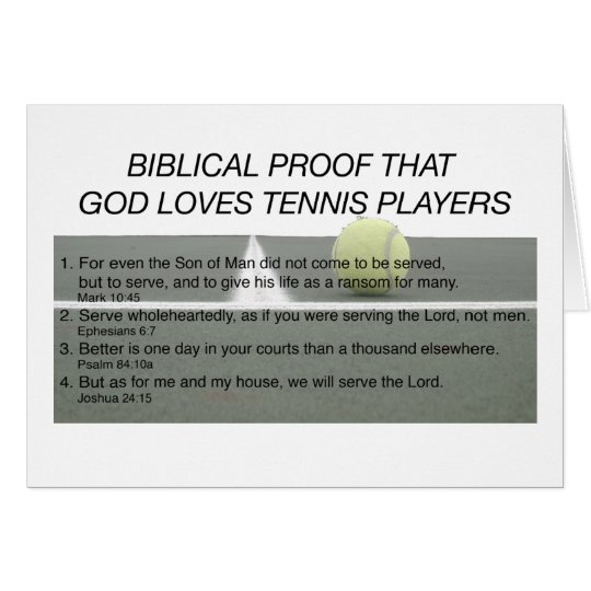 God Loves Tennis Card