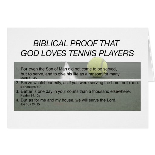 God Loves Tennis Stationery Note Card