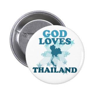 God Loves Thailand Pinback Button