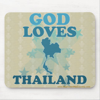 God Loves Thailand Mouse Pad