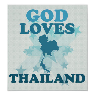 God Loves Thailand Print