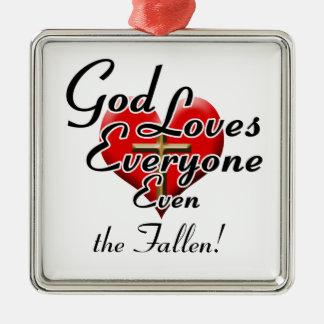 God Loves the Fallen! Christmas Tree Ornament
