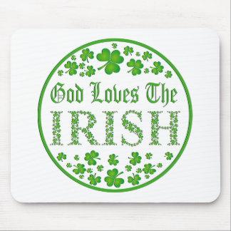 God Loves The Irish Mouse Pad