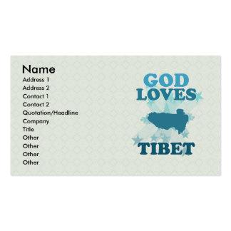 God Loves Tibet Business Cards