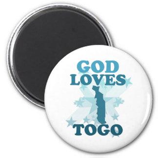 God Loves Togo Refrigerator Magnets