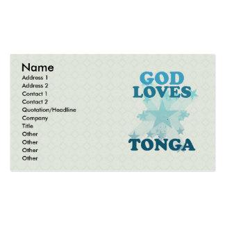 God Loves Tonga Business Card