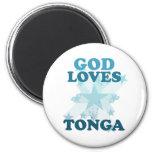 God Loves Tonga Magnet