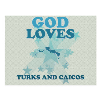 God Loves Turks And Caicos Postcards