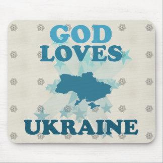 God Loves Ukraine Mouse Pad