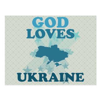 God Loves Ukraine Postcard