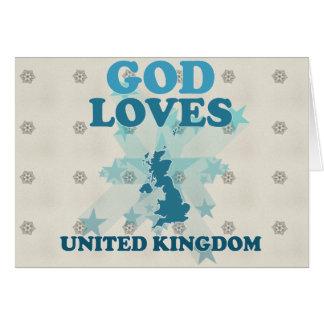 God Loves United Kingdom Cards