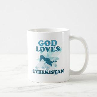 God Loves Uzbekistan Mugs