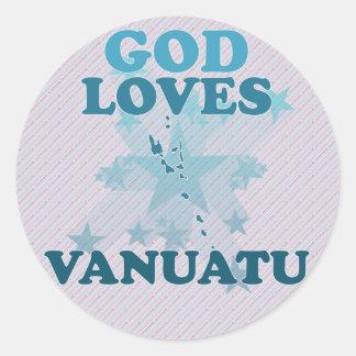 God Loves Vanuatu Sticker