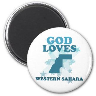 God Loves Western Sahara Refrigerator Magnets