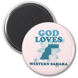 God Loves Western Sahara Refrigerator Magnet