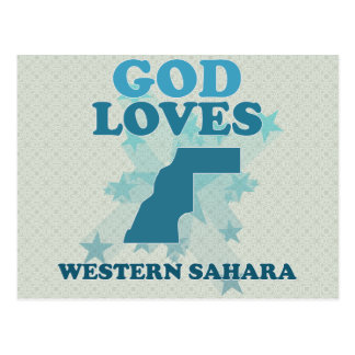 God Loves Western Sahara Postcard