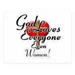 God Loves Women! Postcard
