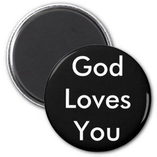 God Loves You 2 Inch Round Magnet