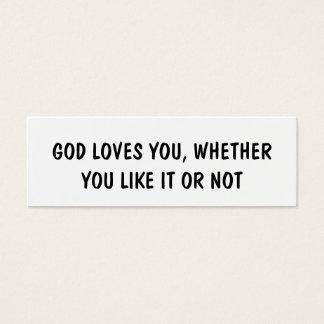 GOD LOVES YOU Business Card