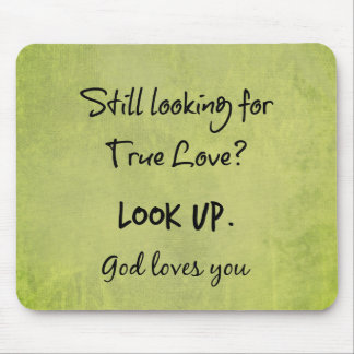 God Loves You Christian Quote Mouse Pad