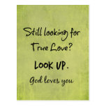 God Loves You Christian Quote Postcard