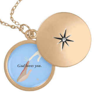 God loves you, Energy, Multi-racial Hands Necklace