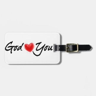 God Loves You Luggage Tag